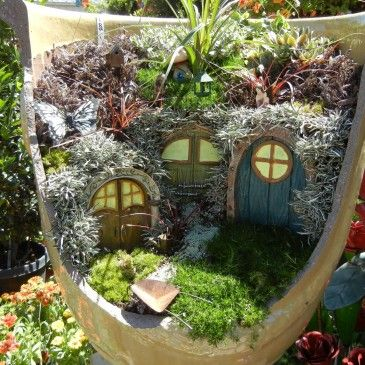 broken pot fairy garden pinterest 11