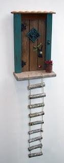 fairy door treehouse ladder
