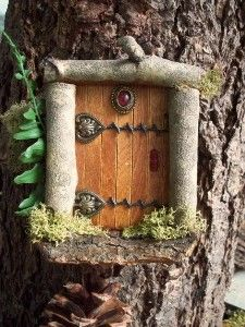 Fairy Door Ideas easy stand alone fairy doors Branches Popsicle Sticks And Old Jewelry Kaboodlecom Via Patricia On Pinterest More Fairy Garden Ideas