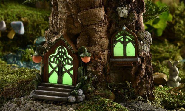 glowing fairy doors and window