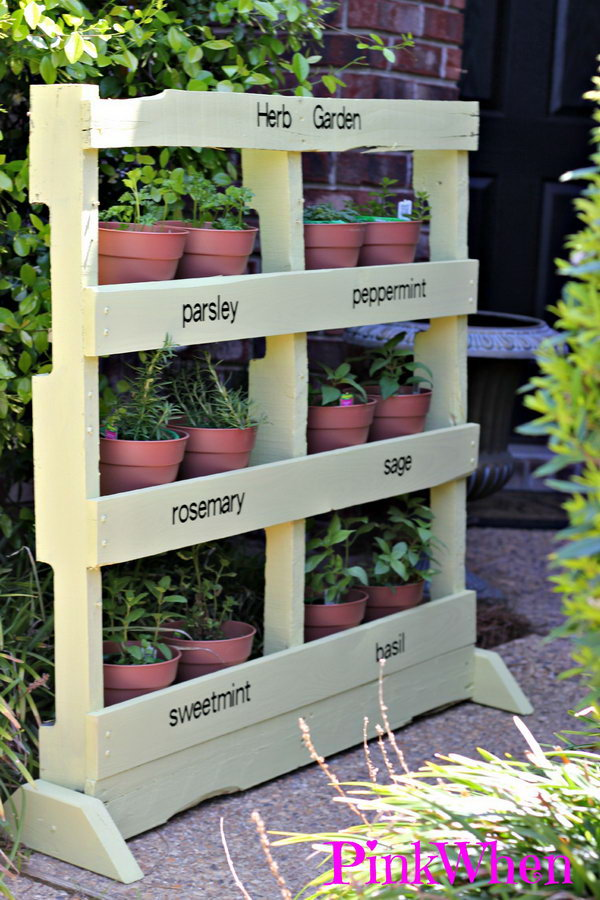 pallet garden ideas herbs pinkwhen - Garden Ideas With Pallets