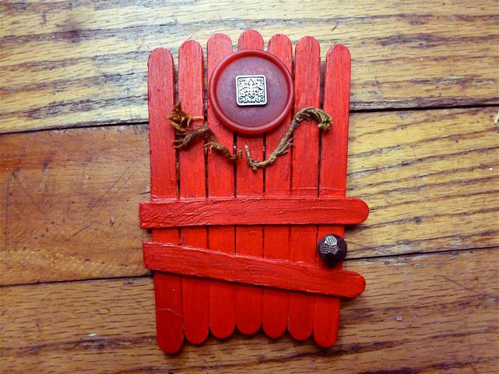 red fairy garden doors