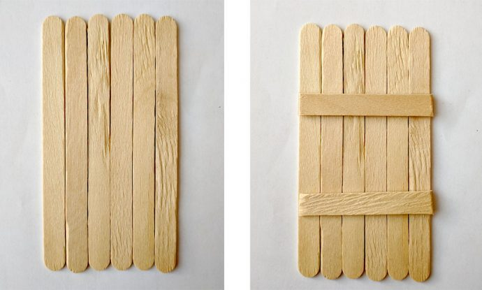 Popsicle Sticks for Fairy Door