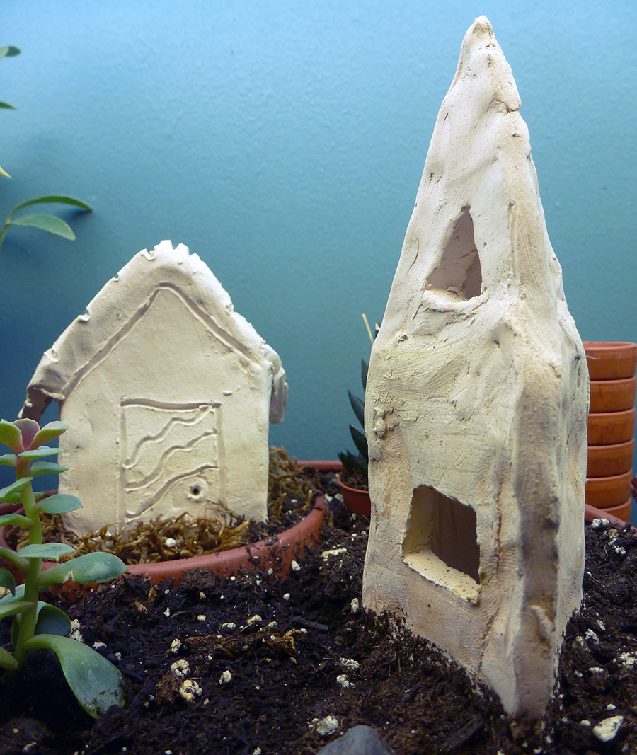 Clay Fairy Houses – made by my son!